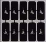 Christmas Tree nail stencils for airbrush